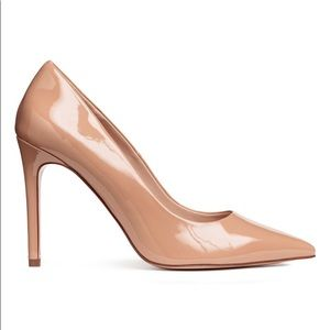 New H&M Pump Pointed Heel Nude and Black shoes